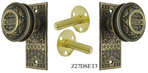 Windsor Pattern Small Door Plate Dummy Set (Z27DSET3)