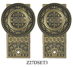 Windsor-Pattern-Small-Door-Plate-Dummy-Set-(Z27DSET3)