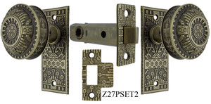 Windsor Pattern Interior Passage Small Door Plate Set (Z27PSET2)
