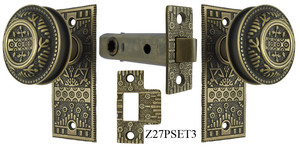 Windsor Pattern Interior Passage Small Door Plate Set (Z27PSET3)