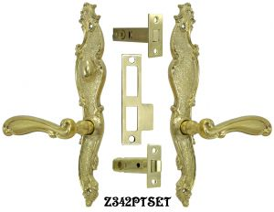 Victorian-French-Door-Set-with-Turnlatch-(Z342PTSET)