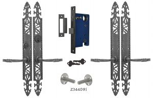 Gothic or Arts and Crafts Iron Double Door Entry Set (Z344DBS)
