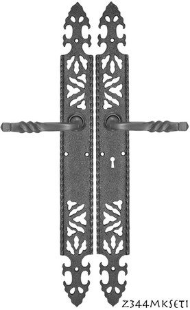 Cast-Iron-Door-Plate-Set-with-Locking-Keyed-Mortise-(Z344MKSET1)
