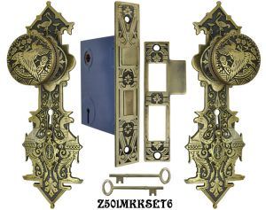 Lost Wax R&E Interior Locking Mortise Door Sets (Z501MKKSET)