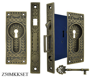 Windsor Pattern Single Pocket Door Lock Set (Z50MKKSET)