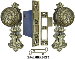Lost Wax R&E Interior Locking Mortise Door Sets (Z546MKKSET)