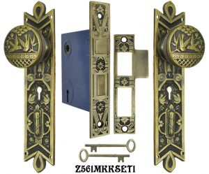 Lost-Wax-R&E-Interior-Locking-Mortise-Door-Sets-(Z561MKKSET)