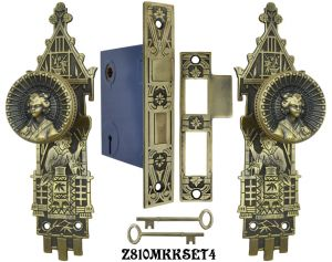 Oriental R&E Interior Locking Mortise Door Sets (Z810MKKSET)