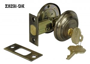 "Baldwin Deadbolt Cylinder Lock 2 1/2"" in Antique Brass Finish (Z8231-DK)"