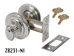 "Baldwin Deadbolt Cylinder Lock 2 1/2"" in Nickel Plated (Z8231-NI)"