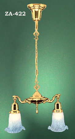 Victorian Hanging 2 Lamp Pan Light (ZA-422)