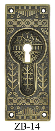 Victorian Windsor Pattern Pocket Door Handle With Keyhole (ZB-14)