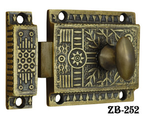 Vintage Antique Style Windsor Pattern Turn Latch With Surface Catch (ZB-252)