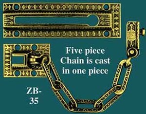 Victorian Windsor Pattern Door Safety Chain (ZB-35)