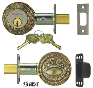 Victorian Windsor Pattern Entry Dead Bolt & Cover (ZB-61ENT)
