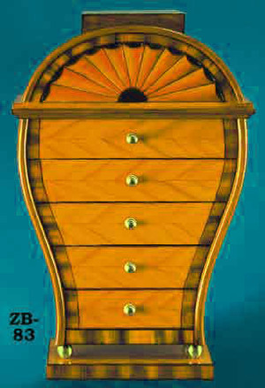 Antique Recreated Serpentine Table Top Chest (ZB-83)