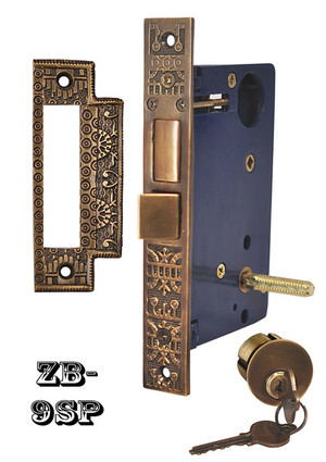 Victorian Recreated Entry Door Lock Windsor Pattern (ZB-9SP)