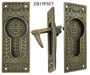 Windsor Pattern Single Pocket Door Set (ZB15PSET)