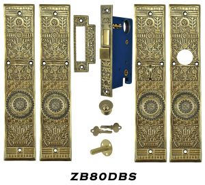 Victorian Windsor Pattern Entry Double Door Set (ZB80DBS)