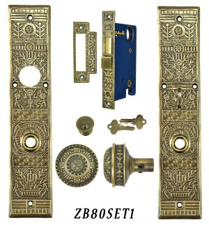 Victorian Windsor Pattern Single Entry Door Set (ZB80SET1)