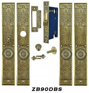 Victorian Windsor Pattern Entry Double Door Set (ZB90DBS)