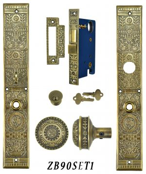 Victorian Windsor Pattern Single Entry Door Set (ZB90SET1)
