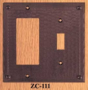 Arts & Crafts GFI Or Rocker & Light Switch Plate Field Pattern (ZC-111)