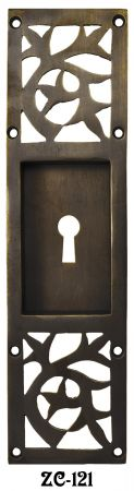 Arts & Crafts Pocket Door Handle With Keyhole Circa 1920 (ZC-121)