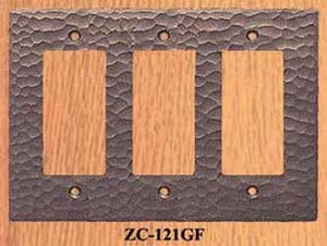Arts & Crafts Triple GFI Switch Plate Cover (ZC-121GF)