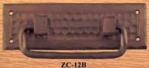 Arts & Crafts Copper Bail Pull Handle Field Pattern (ZC-12B)