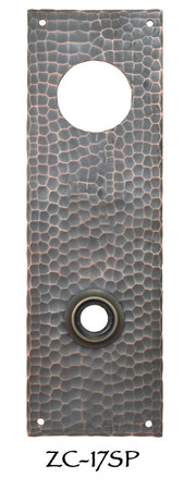 Arts & Crafts Hammered Solid Copper Entry Door Plate (ZC-17SP)