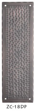 Arts & Crafts Hammered Copper Door Push Plate Field Pattern (ZC-18DP)