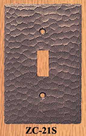 Arts & Crafts Hand Hammered Single Switch Plate Cover (ZC-21S)