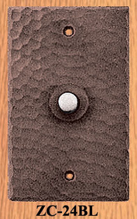 Arts & Crafts Hammered Copper Electric Doorbell (ZC-24BL)