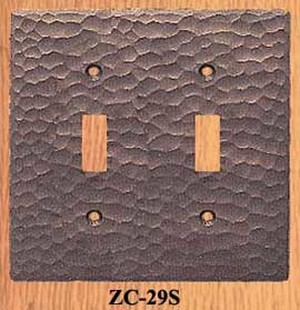Arts & Crafts Double Light Switch Plate (ZC-29S)