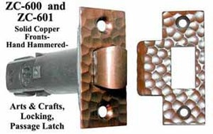 Hammered-Copper-Privacy-Latch-2.375-inch-Backset-(ZC-600)