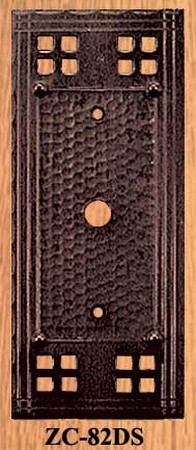 Arts & Crafts Small Hole Switch Plate Cover Pacific Pattern (ZC-82DS)