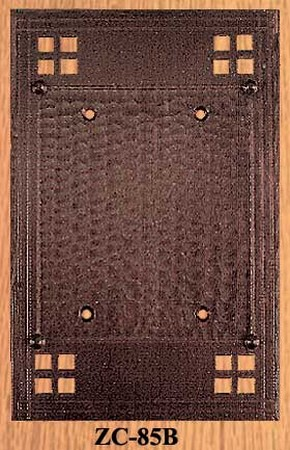 Arts & Crafts Double Switch Plate Blank Pacific Pattern (ZC-85B)