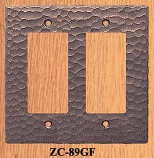 Arts & Crafts Double GFI Switch Plate (ZC-89GF)
