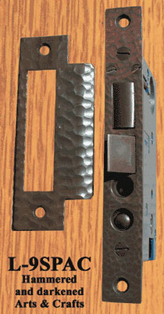 "Arts & Crafts Hammered Copper Mortise Lock 2 1/2"" Backset (ZC-9SP/DL)"