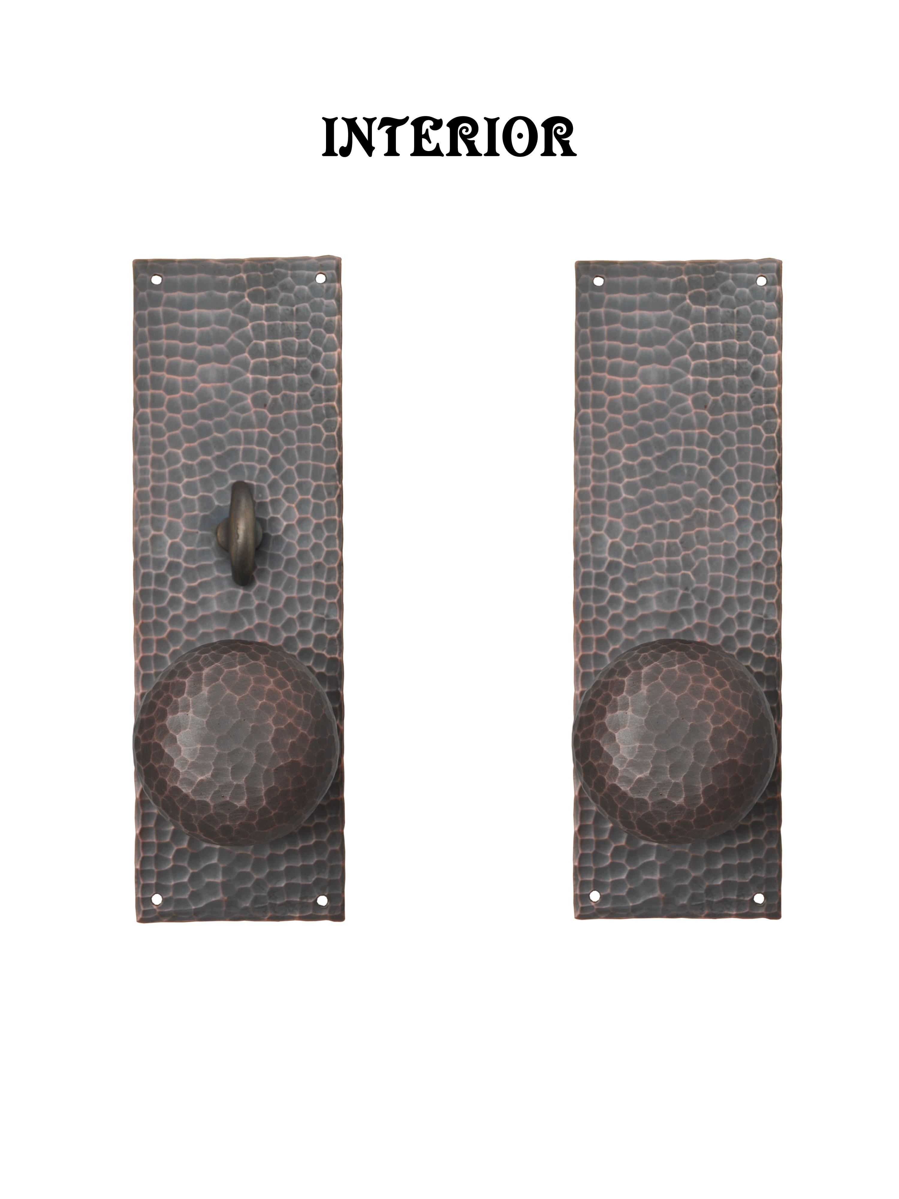 Vintage hardware lighting for Arts and crafts exterior door hardware