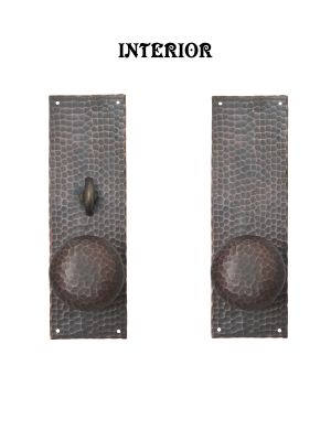 Arts-and-Crafts-Entry-Thumblatch-to-Knob-Hammered-Double-Door-Set-(ZC103DBS2)