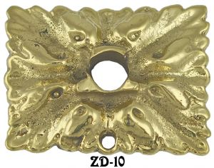 Victorian Rectangular Leaf Motif Drop Backplate (ZD-10)