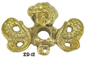 Victorian Cherub Or Cupid Motif Handle Backplate (ZD-12)