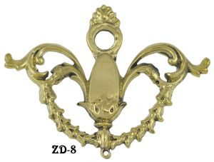 Large Lacy Drop Handle Back Plate Escutcheon (ZD-8)