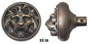 Victorian Door Outstanding Lion Door Knob By Mccc/R&E (ZE-25)