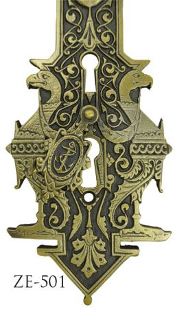 Victorian-Stork-Door-Plate-By-R&E-Circa-1887-(ZE-501)