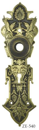 Victorian Mythical Animal Doorknob Backplate By R&E (ZE-540)