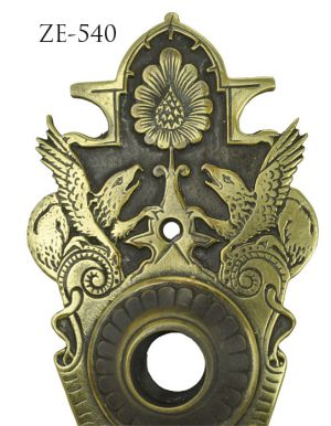 Victorian-Mythical-Animal-Doorknob-Backplate-By-R&E-(ZE-540)