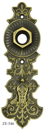 Victorian Doorknob Backplate By R&E (ZE-546)